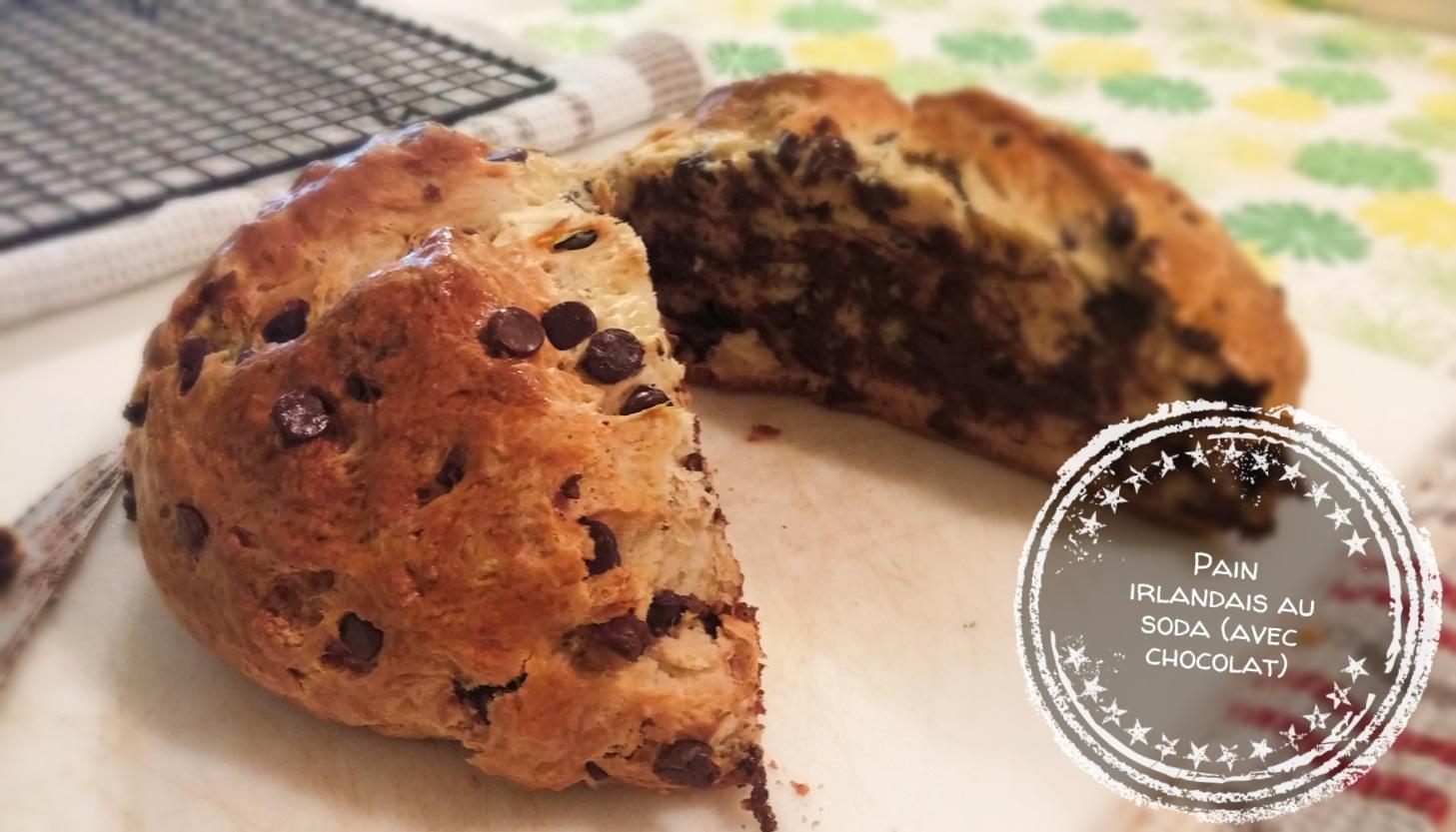 Pain irlandais au soda (avec chocolat) - Auboutdelalangue.com