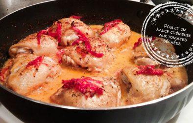 Poulet en sauce crémeuse aux tomates séchées - Auboutdelalangue.com