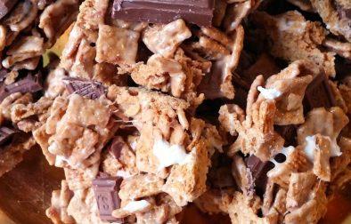 Carrés de céréales style S'mores - Auboutdelalangue.com