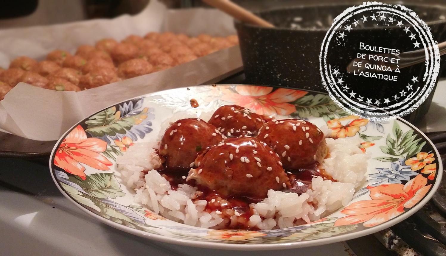 Boulettes de porc et de quinoa à l'asiatique - Auboutdelalangue.com