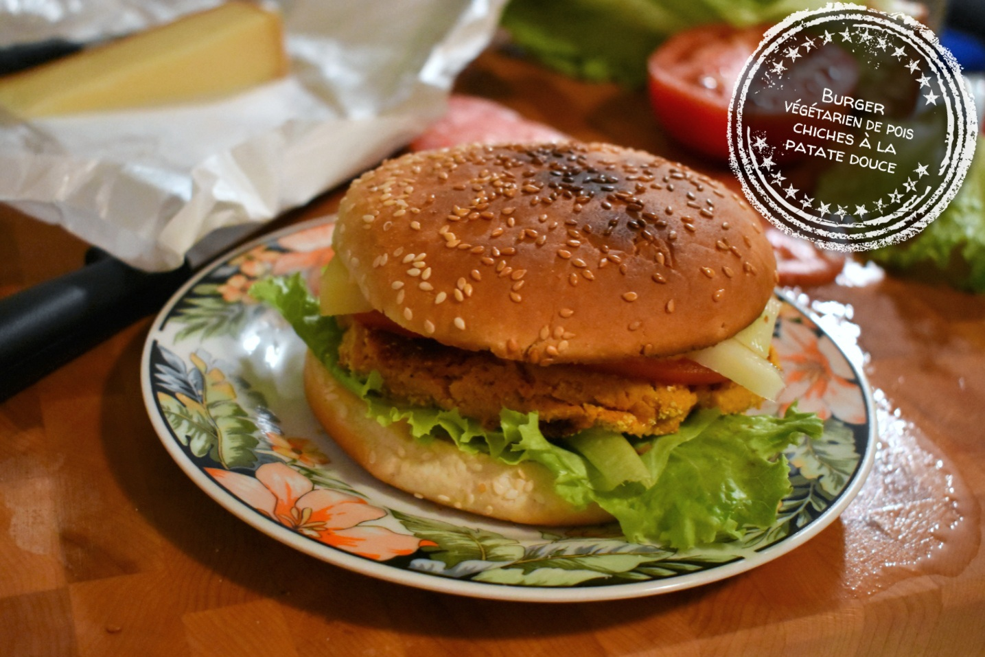 burger v g tarien de pois chiches la patate douce au bout de la langue. Black Bedroom Furniture Sets. Home Design Ideas