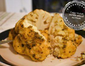 Chou-fleur entier grillé au four - Auboutdelalangue.com