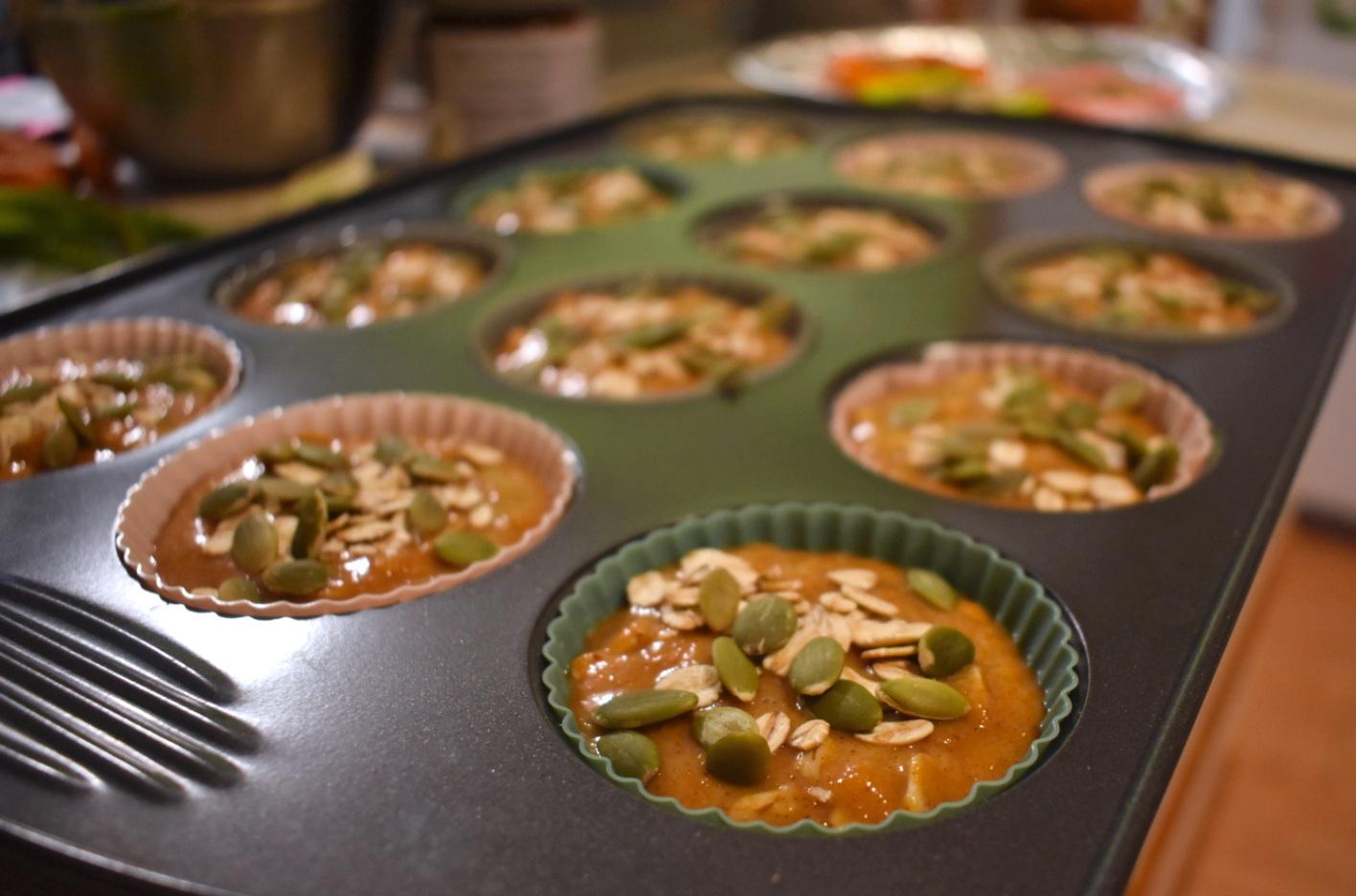 Muffins à la citrouille et à l'avoine dans un seul bol - Auboutdelalangue.com (4)