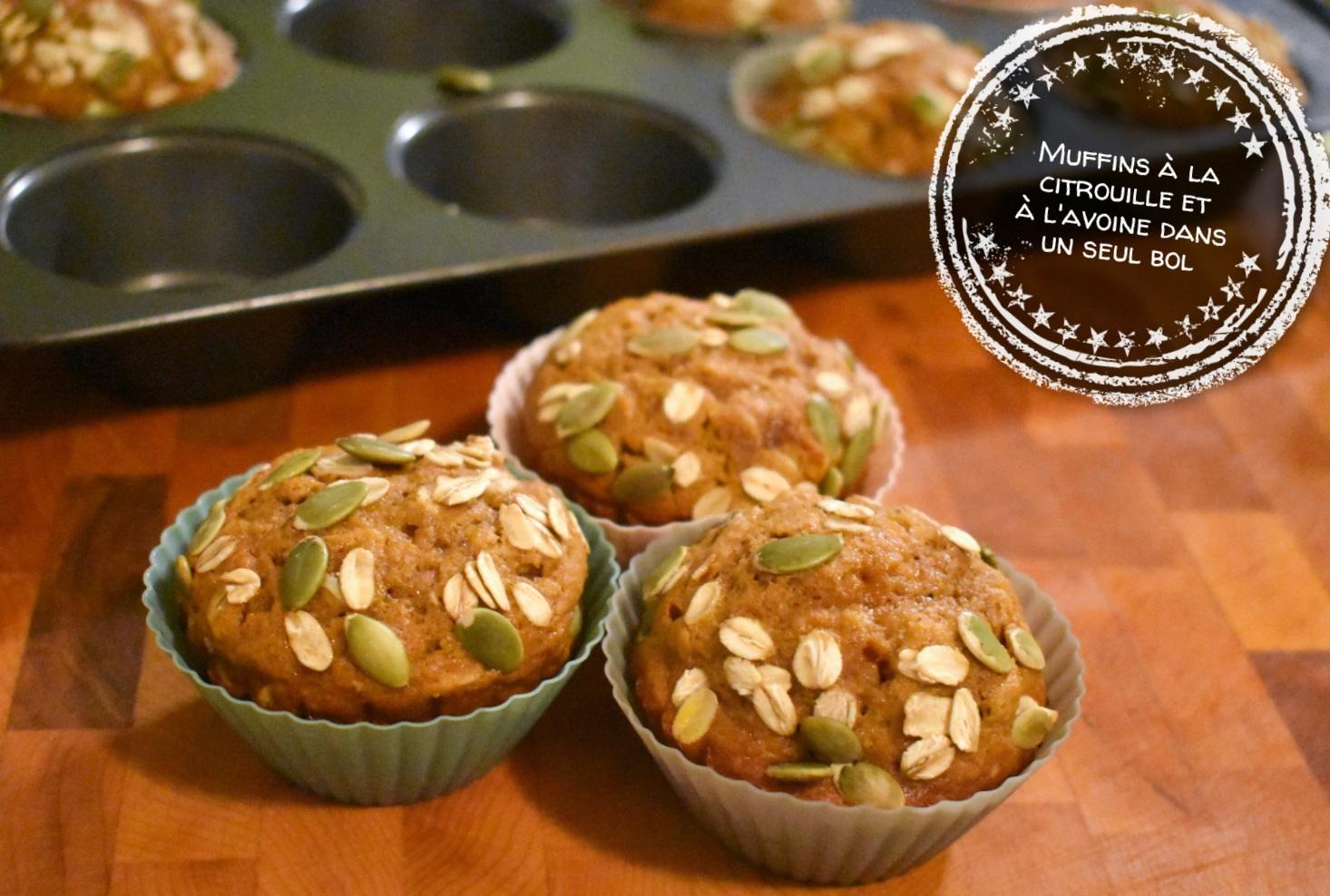 Muffins à la citrouille et à l'avoine dans un seul bol - Auboutdelalangue.com (7)