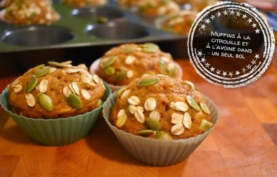 Muffins à la citrouille et à l'avoine dans un seul bol - Auboutdelalangue.com