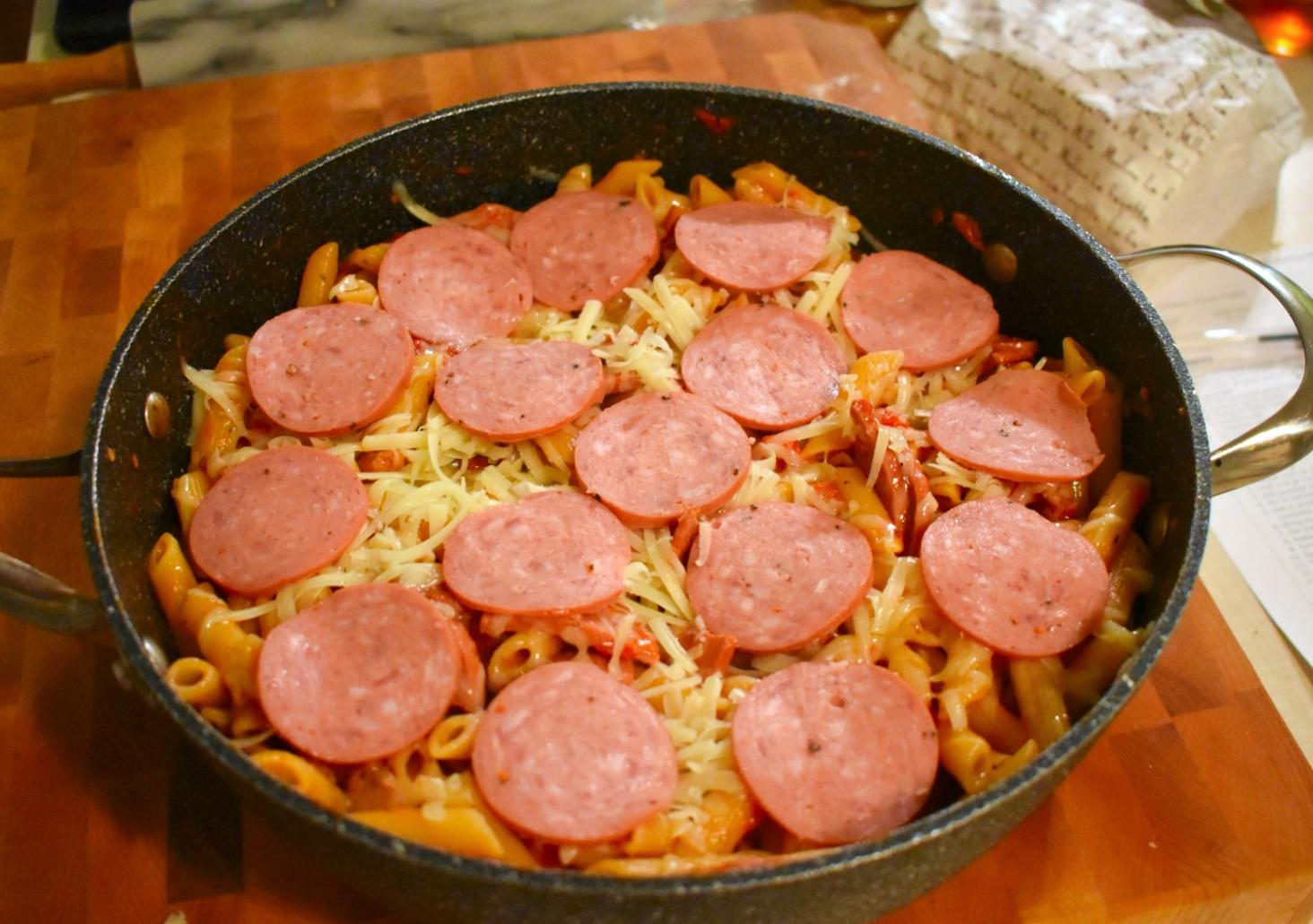 Pâtes à la pizza dans un seul chaudron - Auboutdelalangue.com (6)