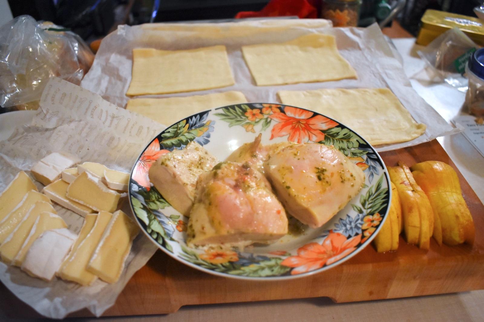 Feuilletés de poulet, brie et poire - Auboutdelalangue.com (4)