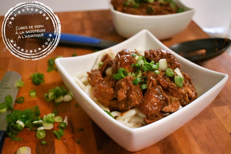 Cubes de porc à la mijoteuse à l'asiatique - Auboutdelalangue.com